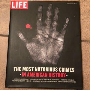 Hardback true crime book